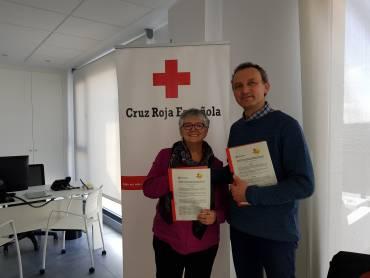 Firma de la renovación del convenio con Cruz Roja